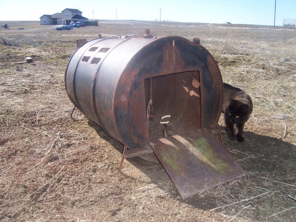 Modern day skunk trap Holly saw in rural Idaho last week.