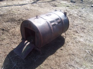 Modern day rural Idaho skunk trap Holly ran across last week.